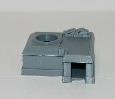 WWII Era Bunker with Searchlight 3D Printed 1:100 1:87 1:72 1:48