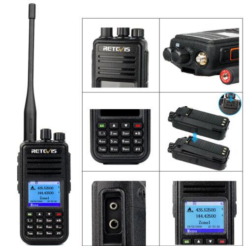 Retevis RT3s DMR Digital Walkie Talkie GPS Dual Band UHF//VHF+Cable+Earpiece+MIC