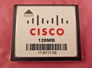 17-6717-02 - Genuine Cisco 128mb Compactflash Memory Card Valeur Formidable