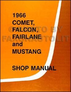 1966-Mercury-Comet-Shop-Manual-66-Cyclone-Caliente-Capri-Wagons-Repair-Service