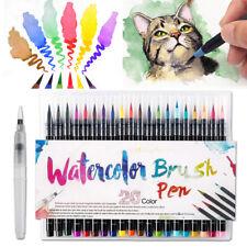 20 Colors Watercolor Drawing Painting Brush Artist Sketch Manga Marker Pens Kit