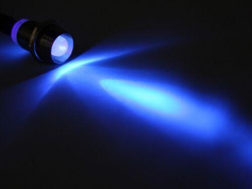 LED Spot Schraube Strahler Edelstahl 12V superhell 8000mcd blau