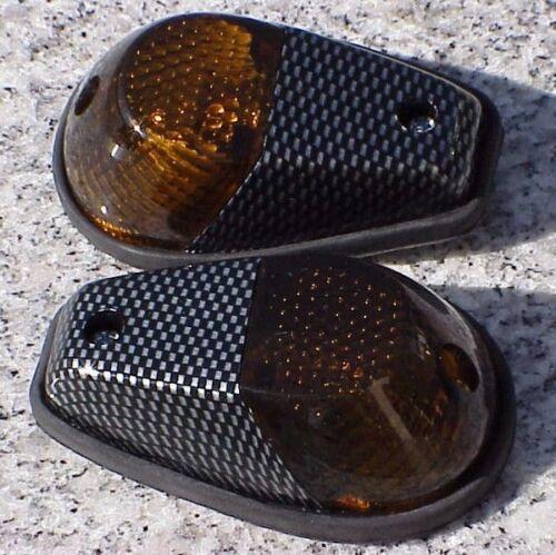 Suzuki GSXR600 GSXR 250 600 750 1000 1100 CARBON//SMOKE Flush Mount Turn Signals