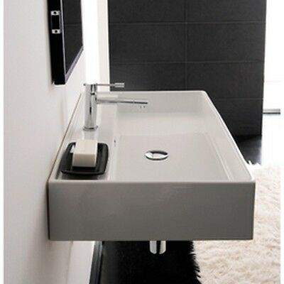 Scarabeo Teorema R 80 Wall Mounted Or Above Counter Bathroom Sink In White  NEW | EBay