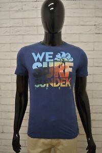 Maglia-SUNDEK-Uomo-Taglia-Size-XS-Shirt-Camicia-Cotone-Blu-Polo-Maglietta-Man