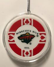 Minnesota Wild Poker Chip Christmas Tree Ornament Holiday NHL Hockey
