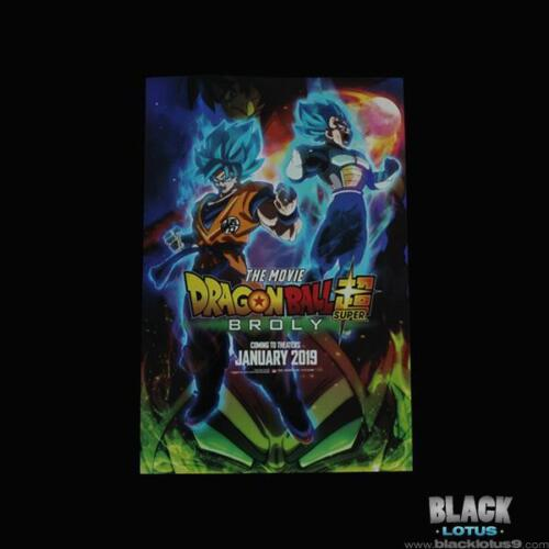 NEW RARE SDCC 2018 Dragon Ball Super The Movie Broly Metallic Poster Funimation