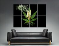 Mary Jane Weed Babe Smoking Wall Art Poster Grand Format A0 Large Print