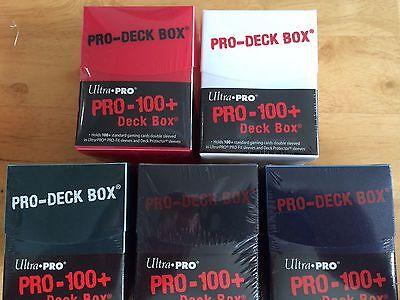 3X ULTRA PRO PRO-100+ DECK BOX YOU CHOOSE COLORS! NEW MTG MAGIC COMMANDER YUGIOH