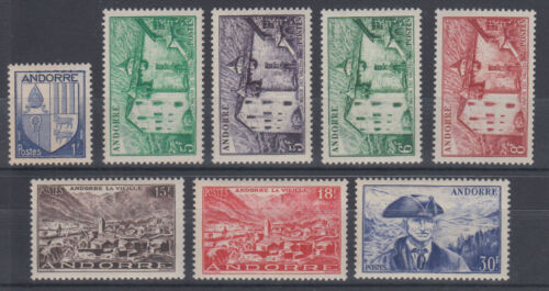 Andorra, French Sc 114123 MNH. 19491951 Pictorials, 8 diff from set VF