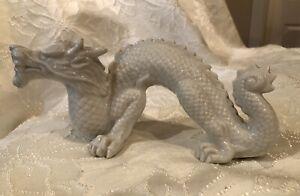 Vintage-OMC-Otagiri-Mercantile-Co-White-Dragon-8-x-4-034-Figurine-Made-in-Japan-MCM