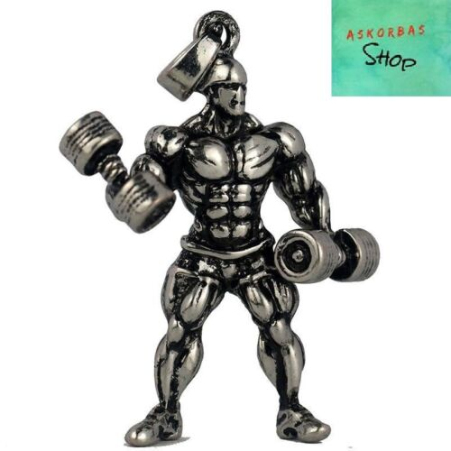 Gym Necklace Strong Man Motivation Bodybuilding Stainless Steel Chain Jewelry