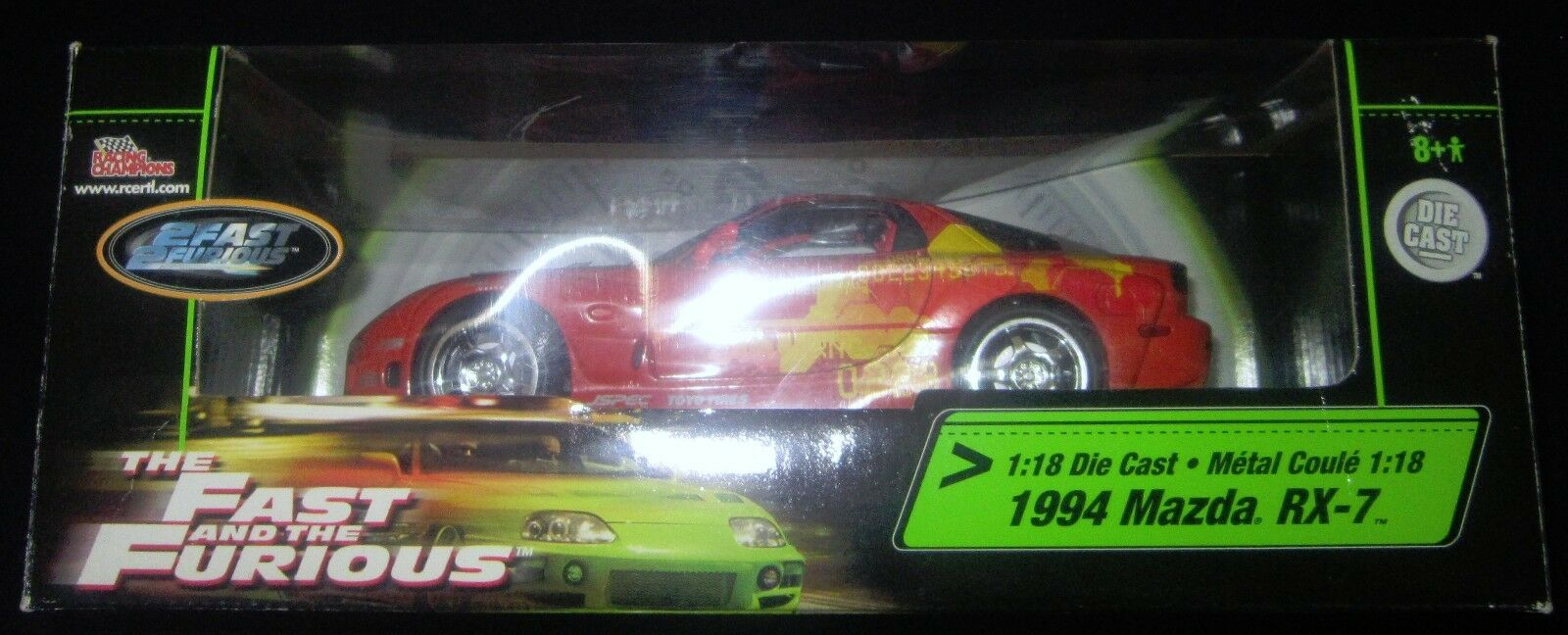 1994 Mazda RX-7 2 2 2 Fast 2 Furious 1 18 Die Cast Racing Champions BRAND NEW 97d6eb