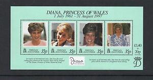 Tristan da Cunha 1999 Diana Commem Sheet MINTMNH One postage for multi buysRx - NEWCASTLE, Staffordshire, United Kingdom - Tristan da Cunha 1999 Diana Commem Sheet MINTMNH One postage for multi buysRx - NEWCASTLE, Staffordshire, United Kingdom