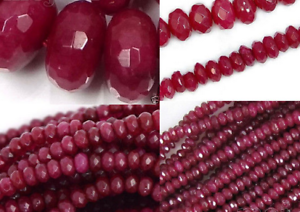 """AAA Natural 6 mm Faceted BRAZIL Red Ruby Gemstones Loose Beads 15/"""""""