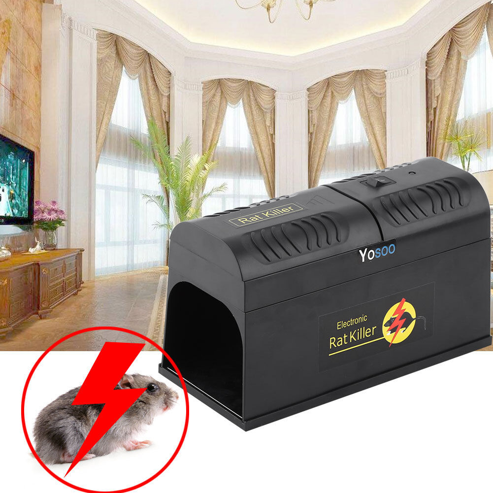 3x Electronic Mouse Trap Victor Control Rat Killer Pest