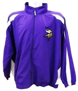 Minnesota-Vikings-NFL-Mens-Full-Zip-Windbreaker-Jacket-Purple-Big-Sizes