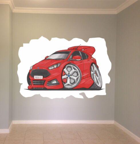 Huge Koolart Cartoon Ford Focus St Wall Sticker Poster Mural 3329