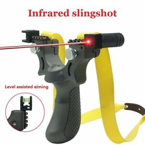 Details about  /Professional Guided Slingshot Hunting Catapult Laser Aiming Rubber Bands Outdoor