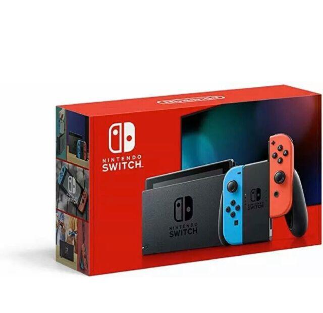 Nintendo Switch 32GB Console Neon Blue & Neon Red Joy Con NEW