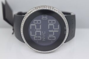 adcb6f317dc New Men s I Gucci Full Case Diamond Ya114202 Black Digital Swiss ...