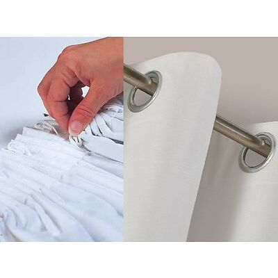 Pair of 3 PASS THERMAL BLACKOUT CURTAIN LINING WHITE LININGS