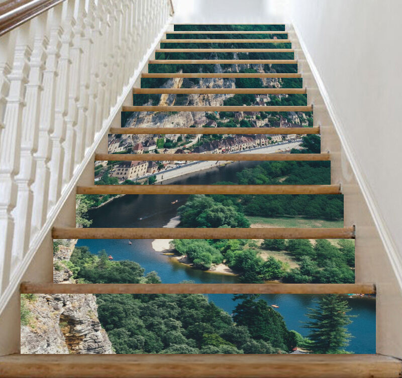 3D Hills Halmet Stair Risers Decoration Photo Mural Vinyl Decal Wallpaper CA
