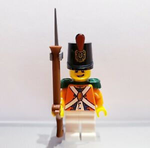 Lego-PIRATES-Imperial-Guard-REDCOAT-Soldier-MINIFIG-Orange-VERSION