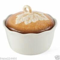 (1) Mini Pumpkin Pie Baker Pan W/lid 20oz 5x5x4 Candy Serving Dish Bowl