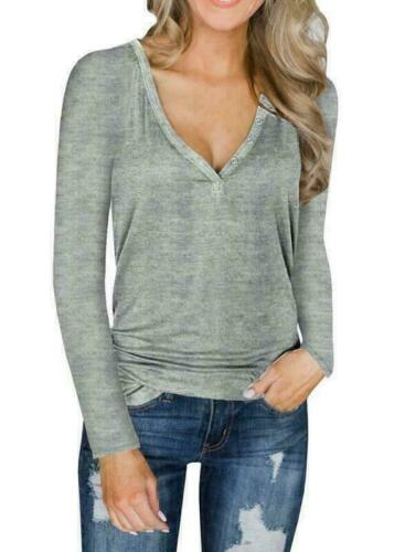 Fashion Womens V Neck Pullover Knitted Sweater Blouse Shirt Knitwear Tops Shirts