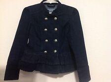 Gap Kids Jean Denim Military Style Jacket Madonna Girls Size XSmall 4-5 EUC!