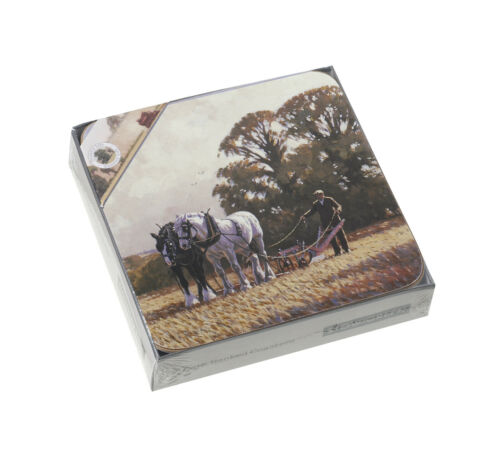 Set of 6 Farm Country Life Cork Backed Table Mats or Coasters Placemats UK Stow