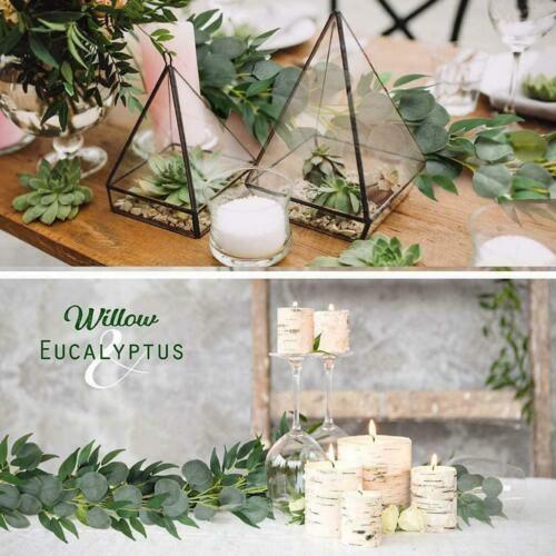 Artificial Eucalyptus Garland Hanging Fake Plant Leaves Vine Rattan T9G0