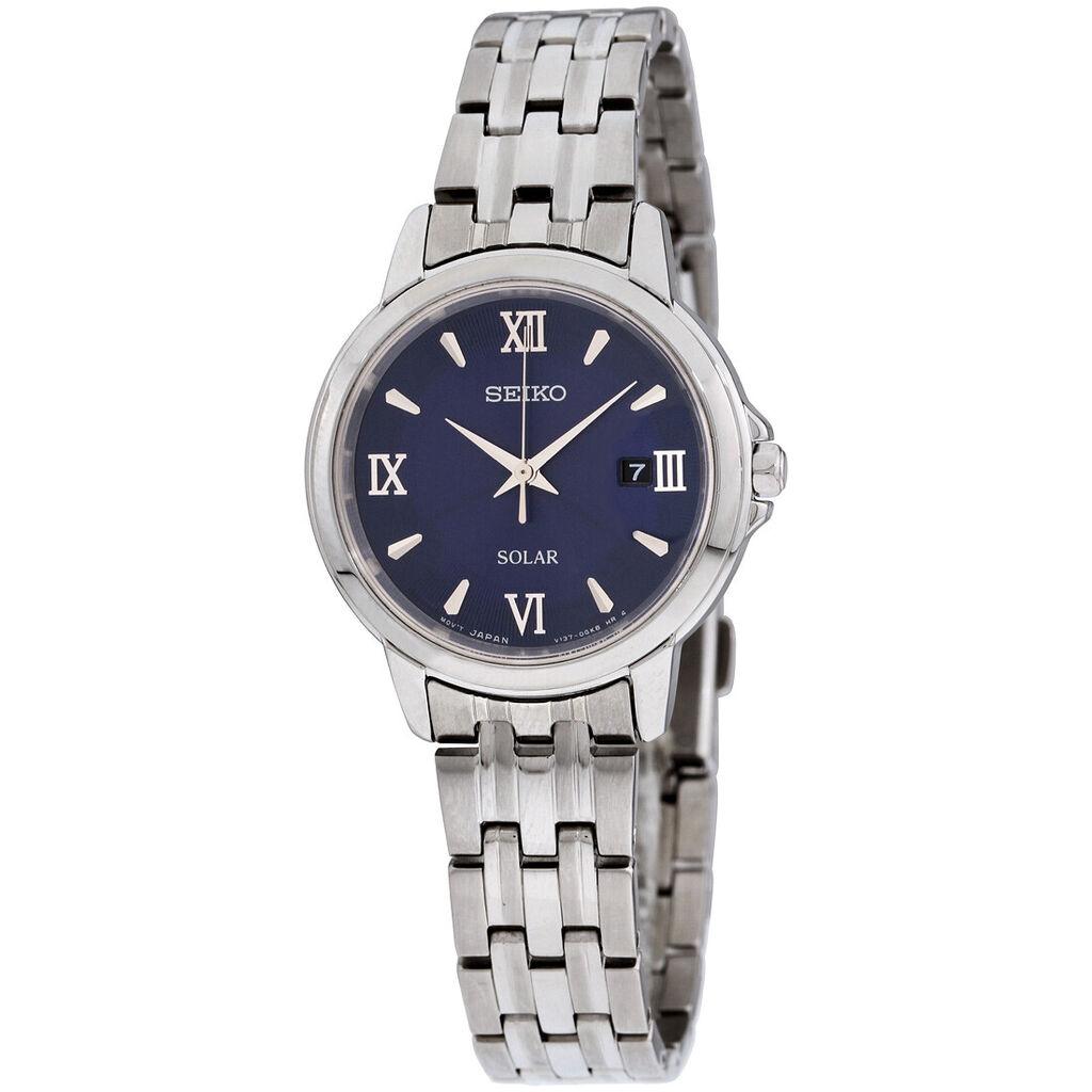 Seiko Essentials Quartz Movement Blue Dial Ladies Watch SUT347 | Ebay