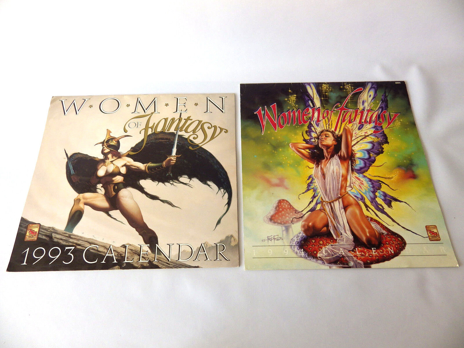Set of 2 Calendars Women Fantasy Calendar 1994 et 1993 Tbe Rare