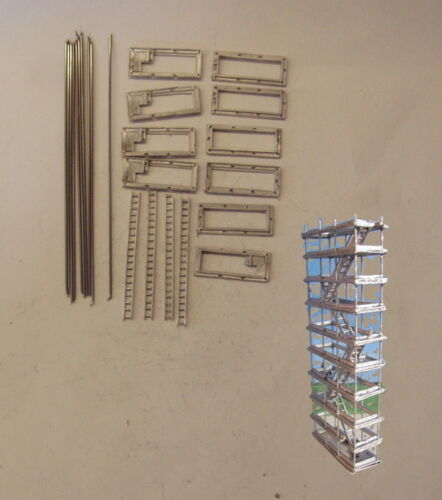P/&D Marsh N Scale N Gauge M22 Stair-type access tower kit height up to 72mm