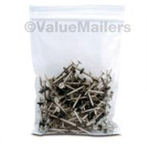 100 8x10 Clear Plastic Zipper Poly Locking Reclosable Bags 2 MiL