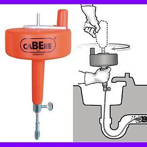 Cable desatascador de 7 5m flexible acero tambor - Muelle desatascador tuberias ...