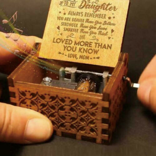 You Are My Sunshine-Wooden Engraved Music Box Gift for Mom//Dad To Daughter//Son