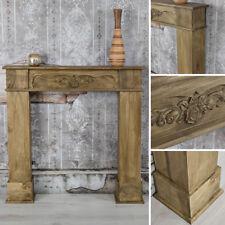 Kamin Attrappe Kaminkonsole Holz Attrappe Kaminzubehör antik Deko Wohnzimmer