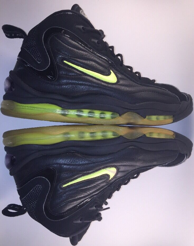 OG 1997 Nike Air Total Max Uptempo 830015 031 Black Neon Yellow Sz 13