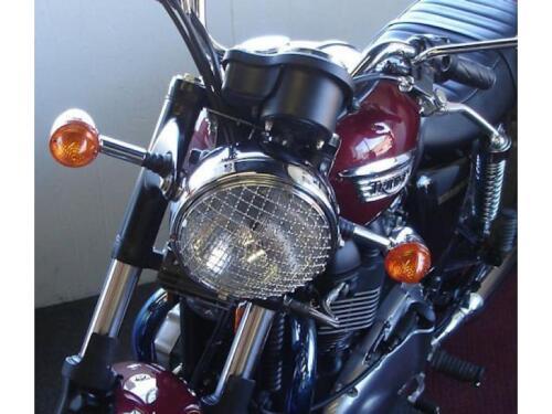 "Triumph Bonneville Thruxton 7/"" Stainless Headlamp Headlight Stone Guard Grill"