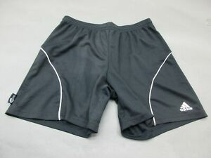 ADIDAS-SIZE-L-WOMENS-BLACK-ATHLETIC-GYM-FITNESS-RUNNING-TRACK-SHORTS-292