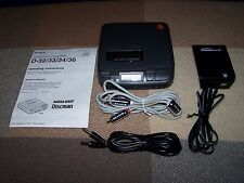 Sony D-36 Discman CD Player / Paperwork / AC Adapter / ***Working***