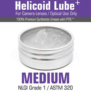 Helicoid Grease -MEDIUM- 5ml/15ml for Camera Lens Servicing MADE IN UK
