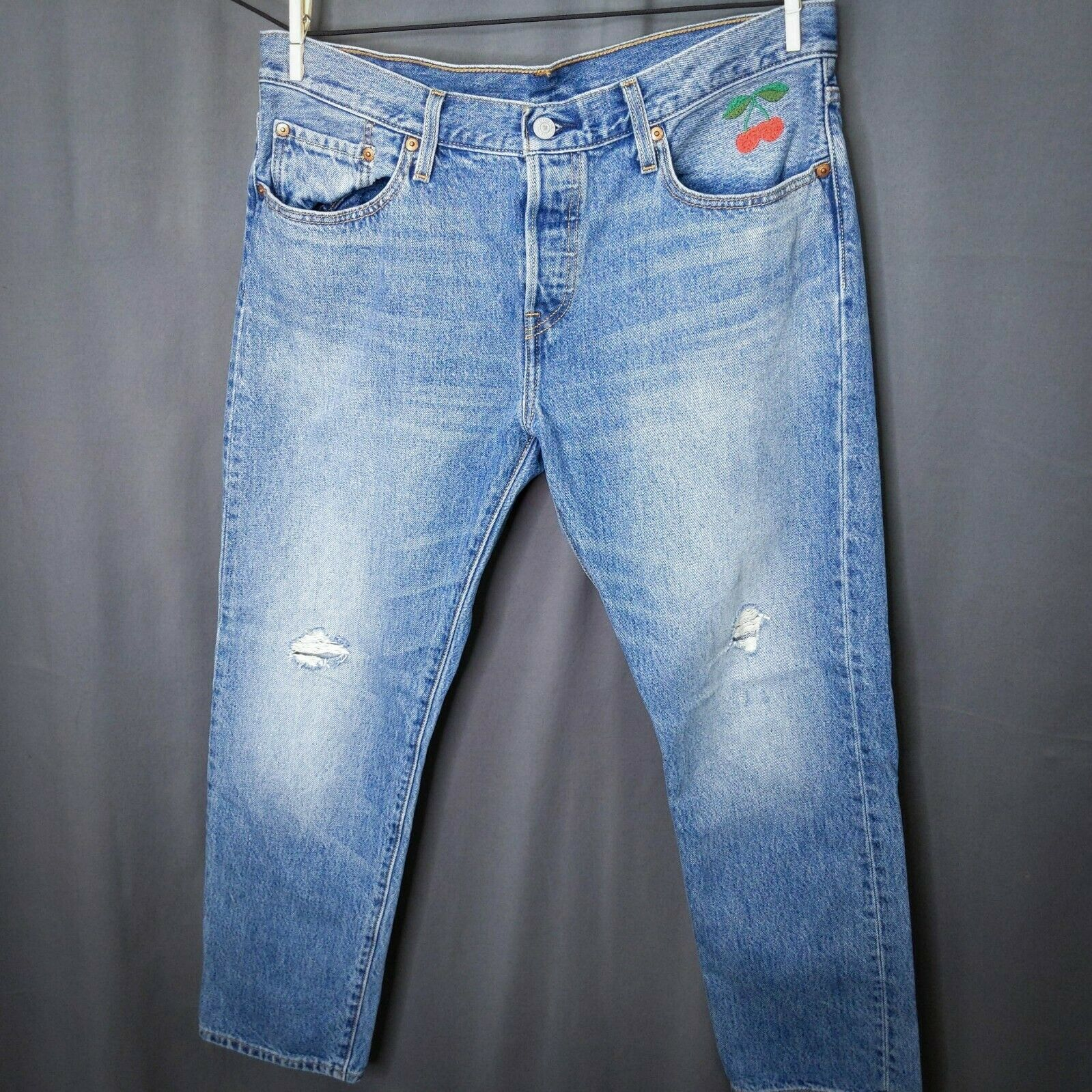 Levis CT 501 Womens Cropped Jeans Size 31x29 Cher… - image 1
