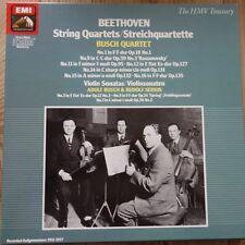 EX 137 2903063 Beethoven String Quartets Violin Sonatas Busch Quartet 5 LP bo...
