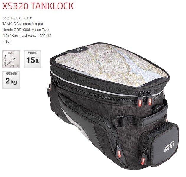 GIVI Bag Mens Tank 15LT Tanklock XS320