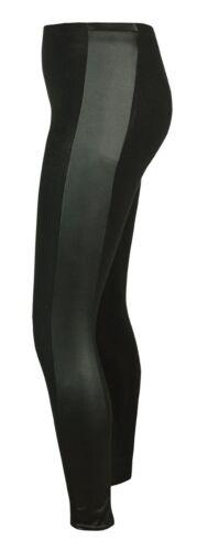 Para mujeres leggings impresión animal de PVC Panel Lateral elástica ajustados jggings 8-22