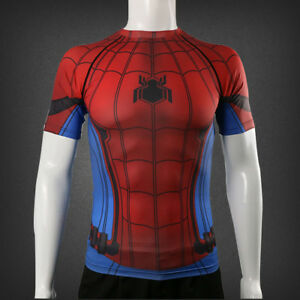 4e48fe52 2017 Spider-Man:Homecoming T-Shirt 3D Tight Cosplay SpiderMan Cool T ...